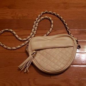 Heart chain strap purse
